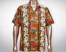Hawaiihemd Manoa - Rot