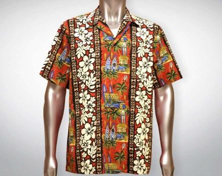 Hawaiihemd Manoa – Rot