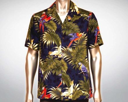 Hawaiihemd Manu – Blau