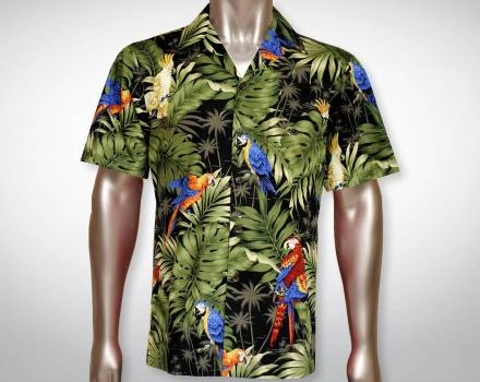 Hawaiihemd Manu – Schwarz