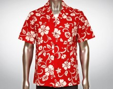 Hawaiihemd Maui - Rot