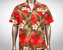 Hawaiihemd Molokai - Rot
