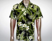 Hawaiihemd Molokai – Schwarz