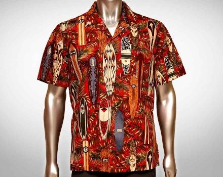 Hawaiihemd Waimea – Rot