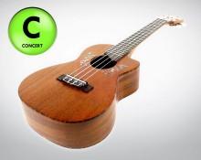 Ohana CK-60C - Concert Ukulele mit Cut-Away Design