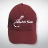 Baseball Cap mit aufgesticktem Ukulele-Fieber Logo – Weinrot