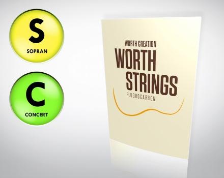 Worth Strings einzelne Sopran & Concert G-Saite für tiefe G-Stimmung
