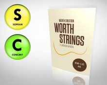 Worth Strings BM-LG Sopran/Concert Ukulele Set - Low-G