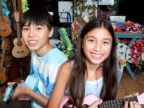 Kurts Enkelkinder zu Besuch aus Hawaii